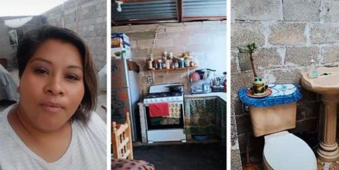 Woman goes viral for proudly showing off her modest house online.