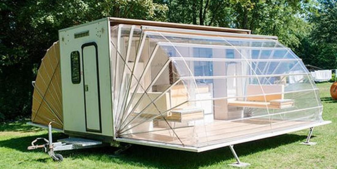 This caravan might look weird at first, but the interior will really surprise you!